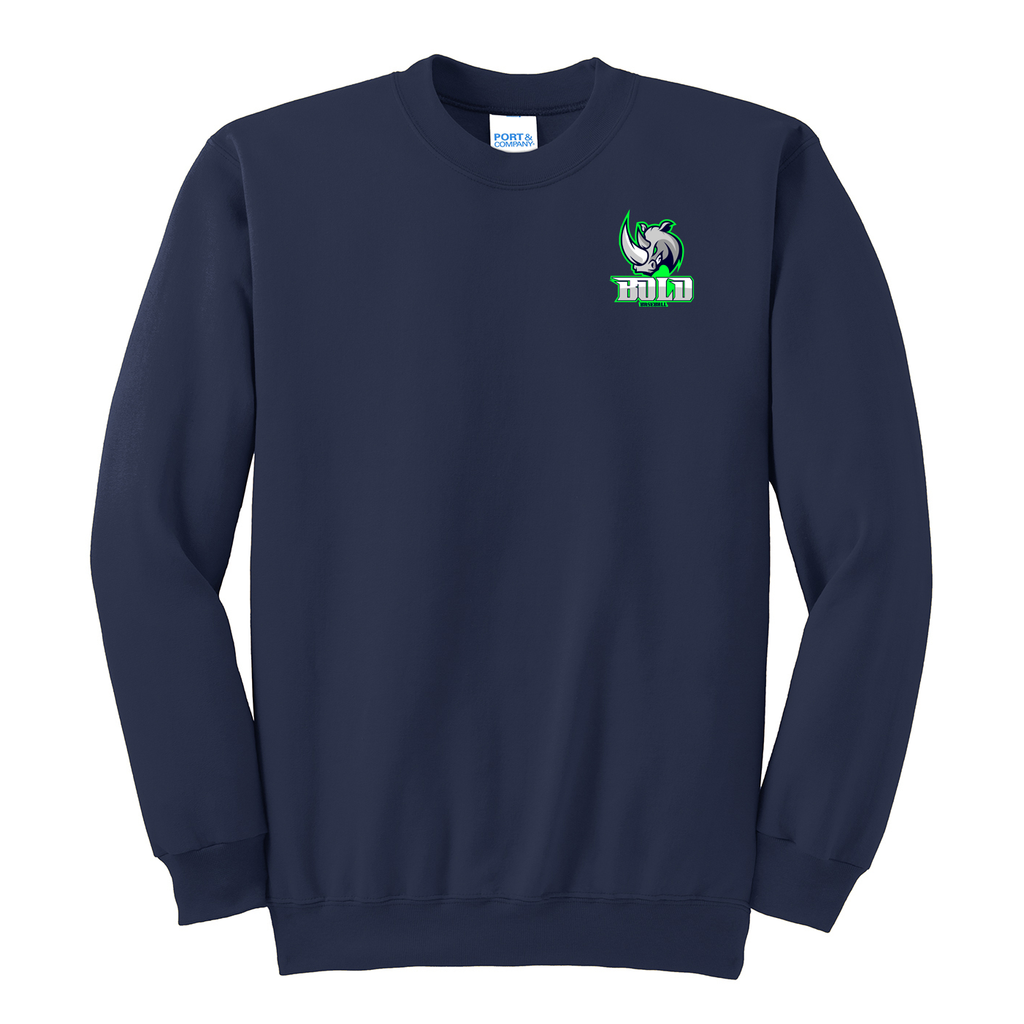 Bold Baseball Crew Neck Sweater