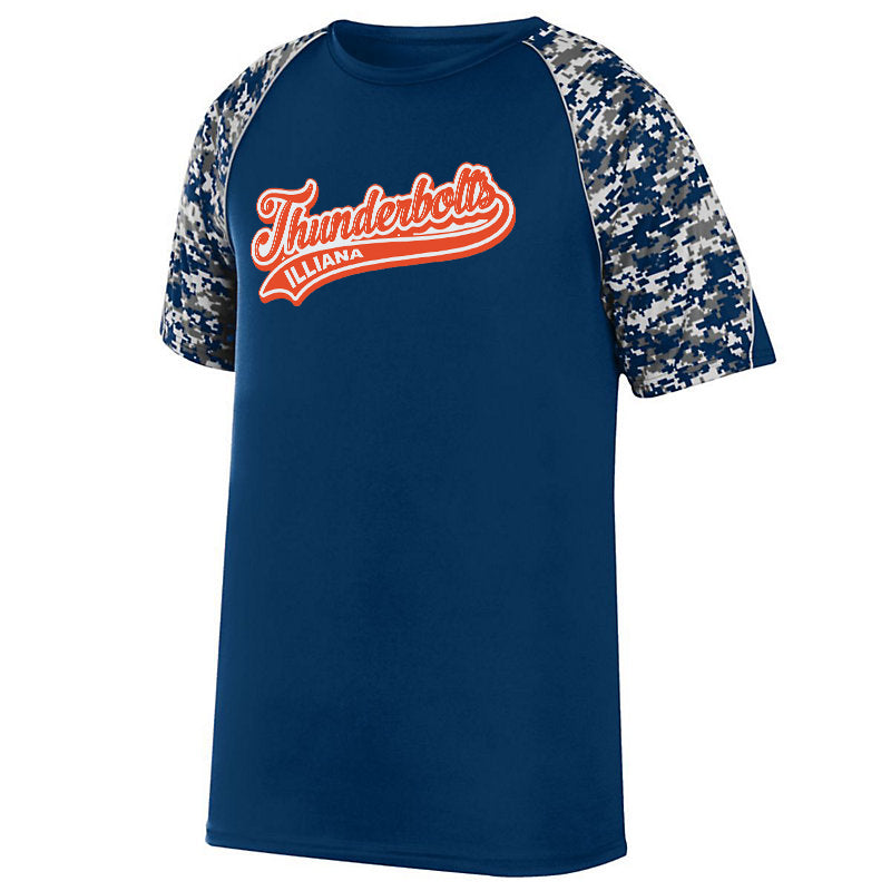 Illiana Thunderbolts Navy Digi-Camo Performance T-Shirt