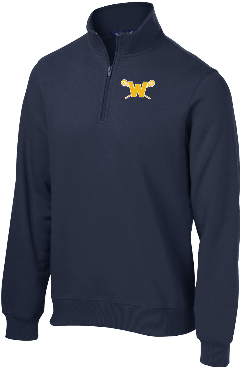 Webster Lacrosse Men's Navy 1/4 Zip Fleece