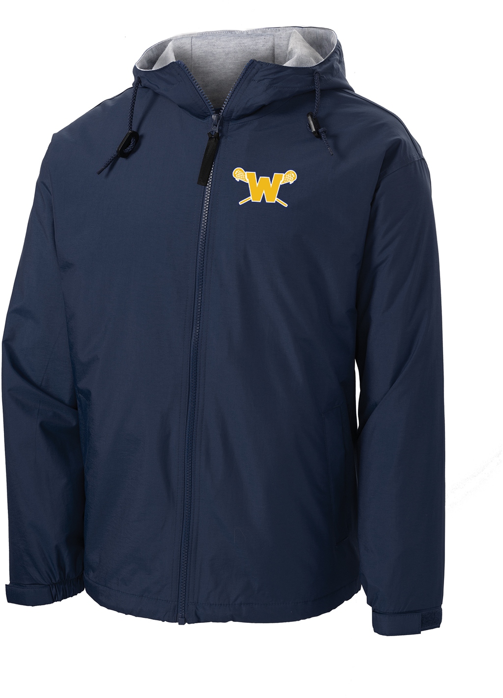 Webster Lacrosse Navy Hooded Jacket
