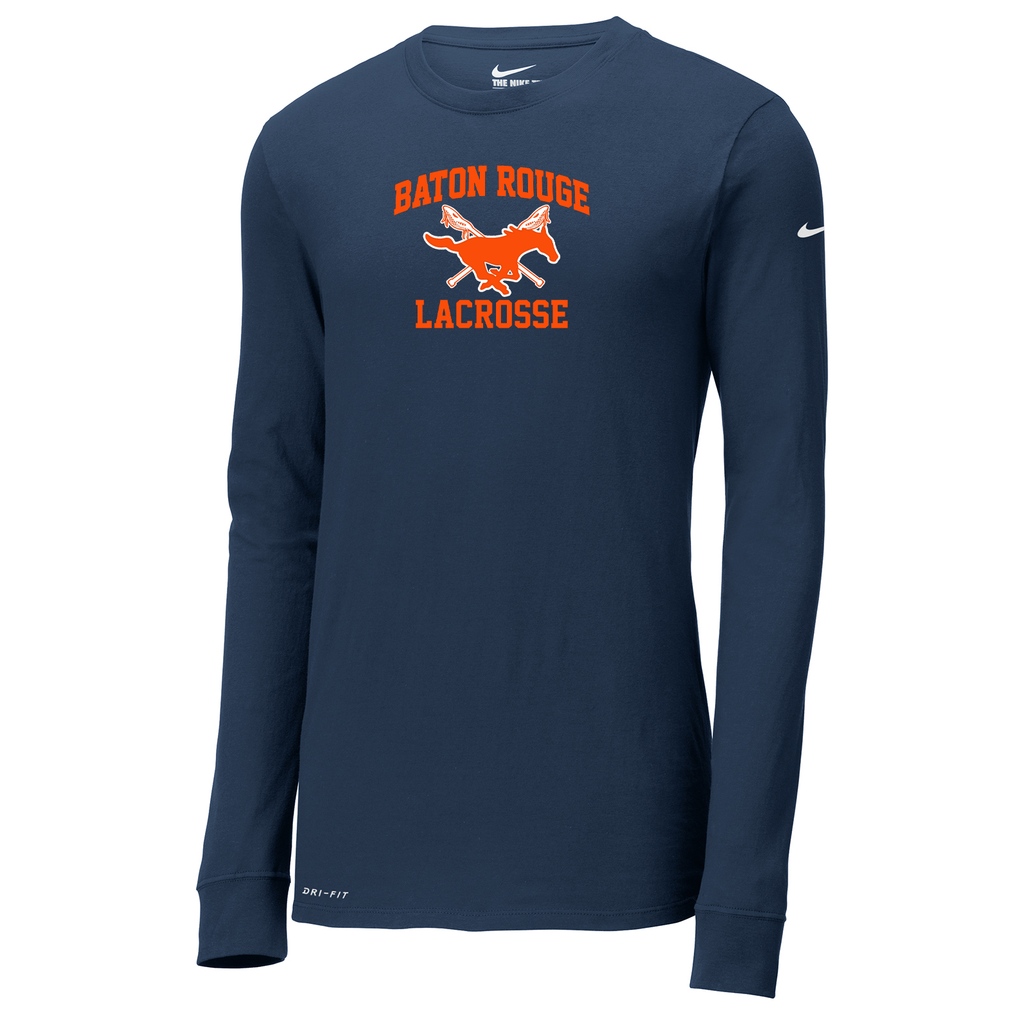 Baton Rouge Mustangs  Nike Dri-FIT Long Sleeve Tee
