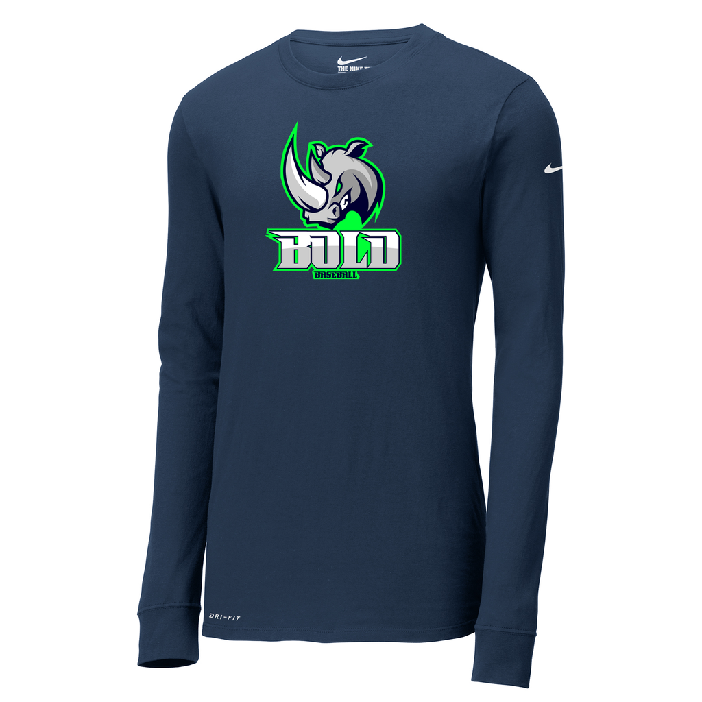 Bold Baseball Nike Dri-FIT Long Sleeve Tee