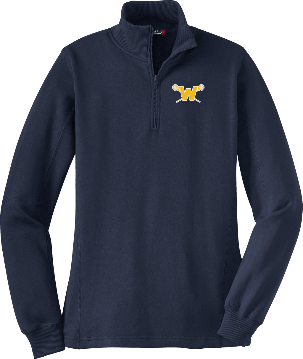 Webster Lacrosse Navy Women's 1/4 Zip Fleece