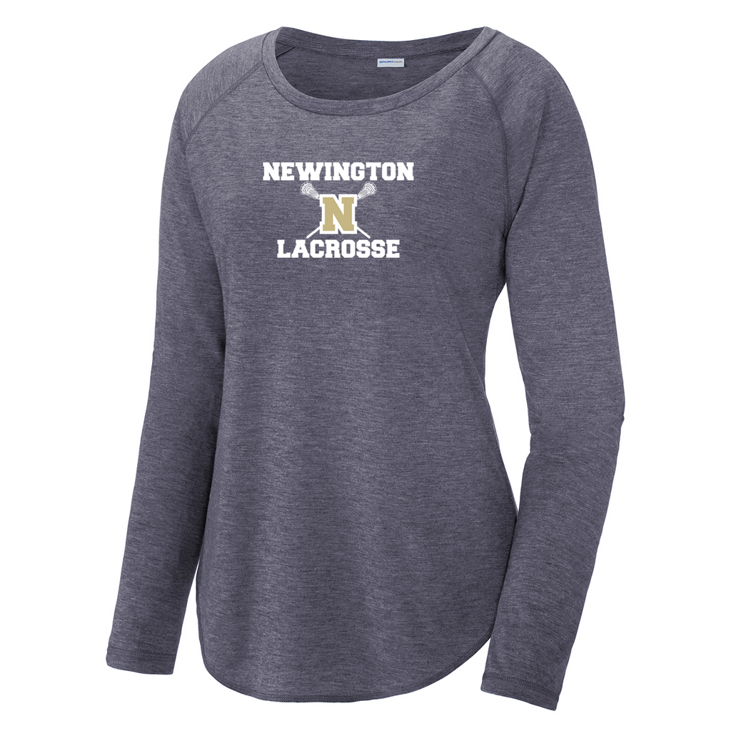 Newington High School Lacrosse Womens Raglan Long Sleeve CottonTouch