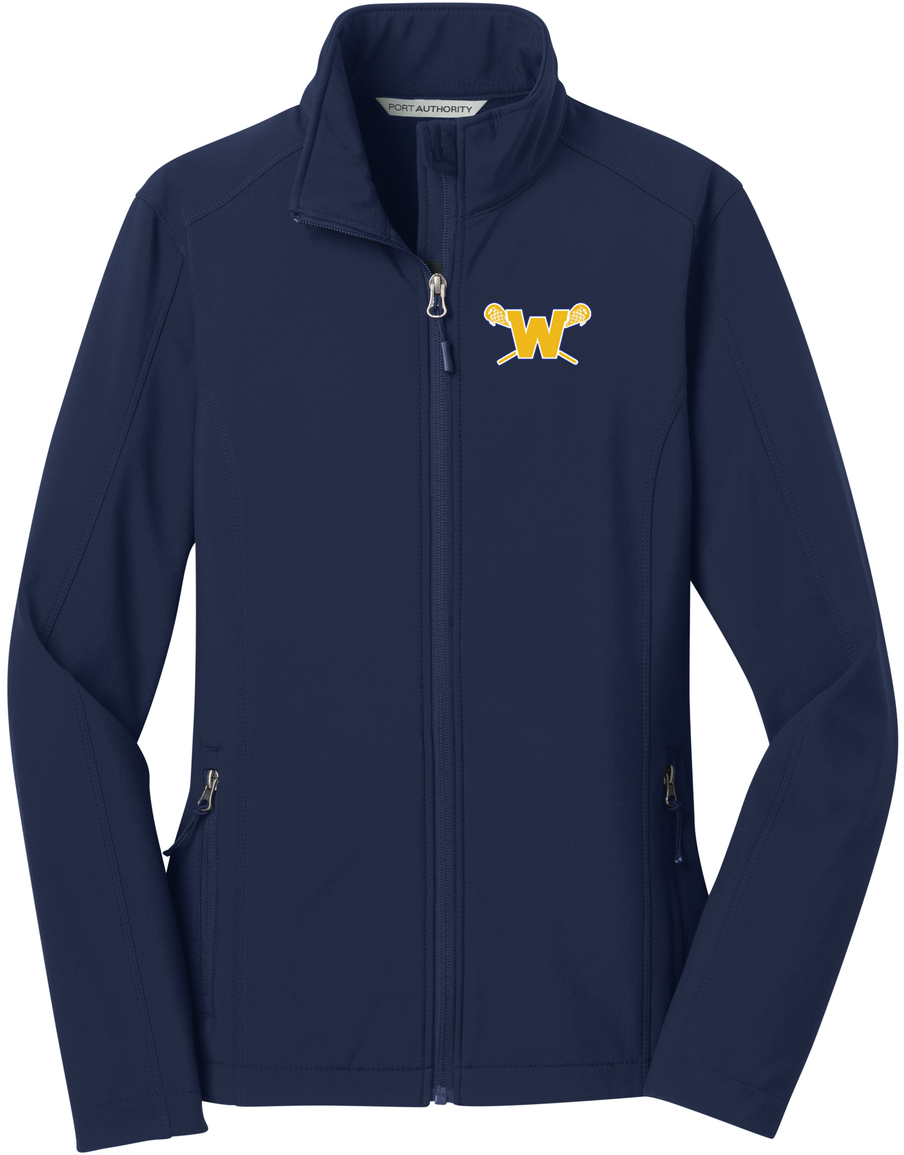 Webster Lacrosse Navy Women's Soft Shell Jacket