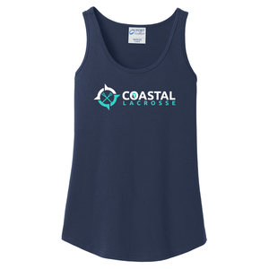 Coastal Lacrosse Women's Navy Tank Top