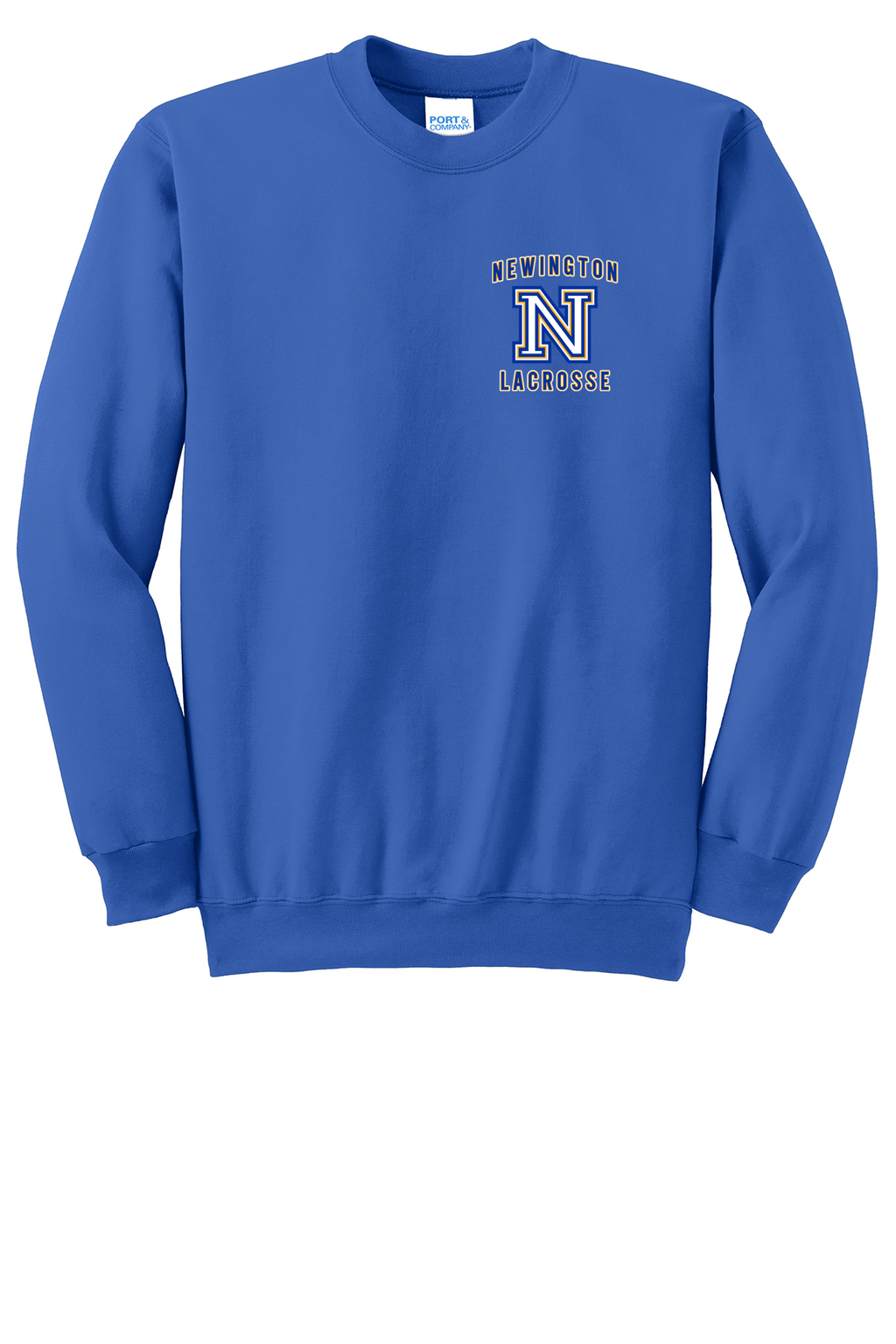 Newington Lacrosse Royal Crew Neck Sweatshirt