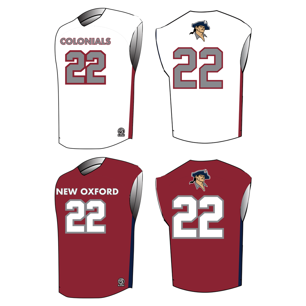New Oxford HS Lacrosse Premium Sleeveless Reversible Game Jersey