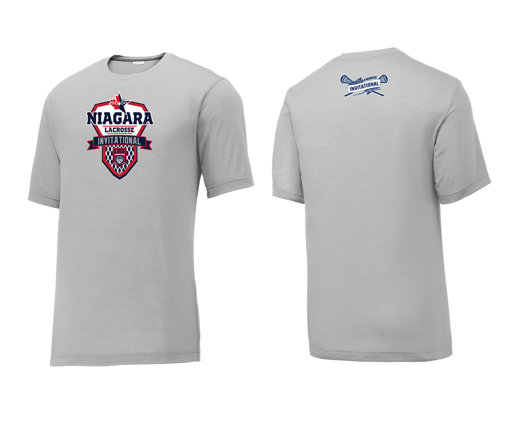 Niagara Lacrosse Invitational Grey Tournament T-Shirt