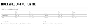 Whitman Lacrosse Nike Ladies Core Cotton Tee
