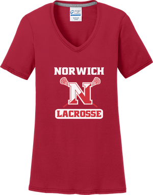 Norwich Youth Lacrosse Women's Red T-Shirt