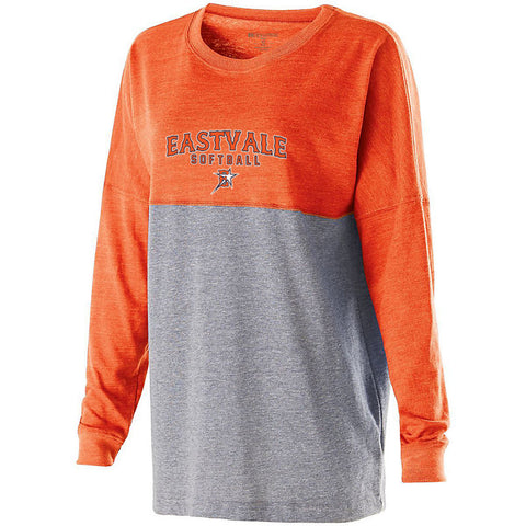 Eastvale Girl's Softball Women's Colorblock Long Sleeve Tee