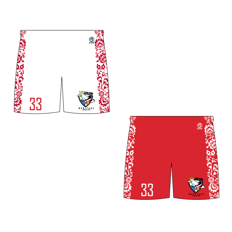 "Poland Heritage Lacrosse Alternate 7"" Inseam Shorts"