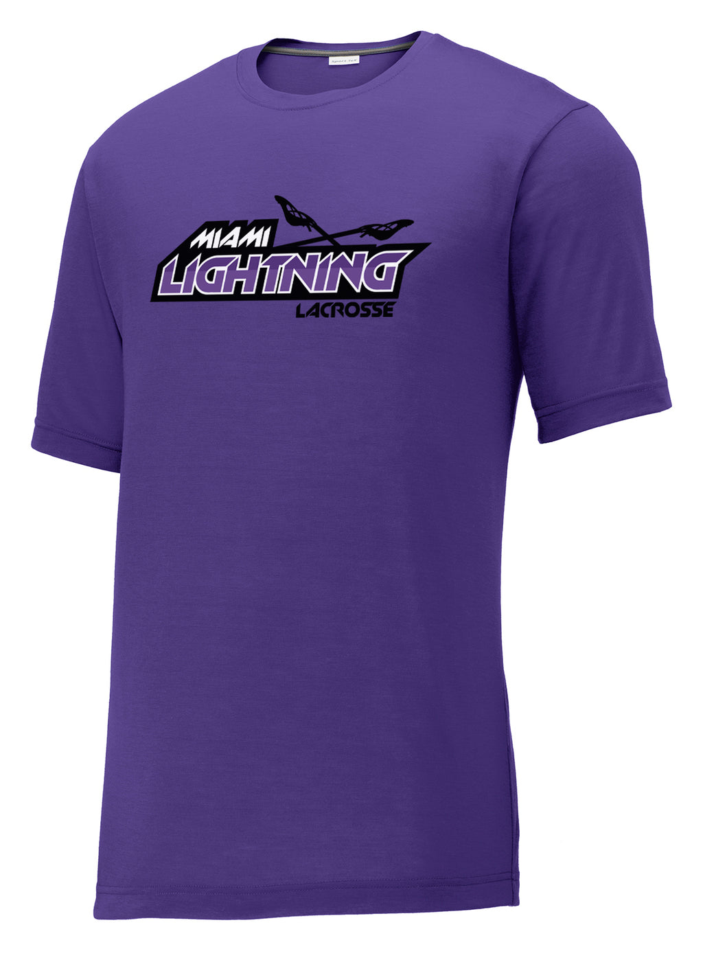 Miami Lightning Purple CottonTouch Performance T-Shirt