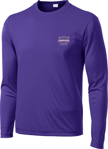 Garfield Purple Long Sleeve Performance Shirt