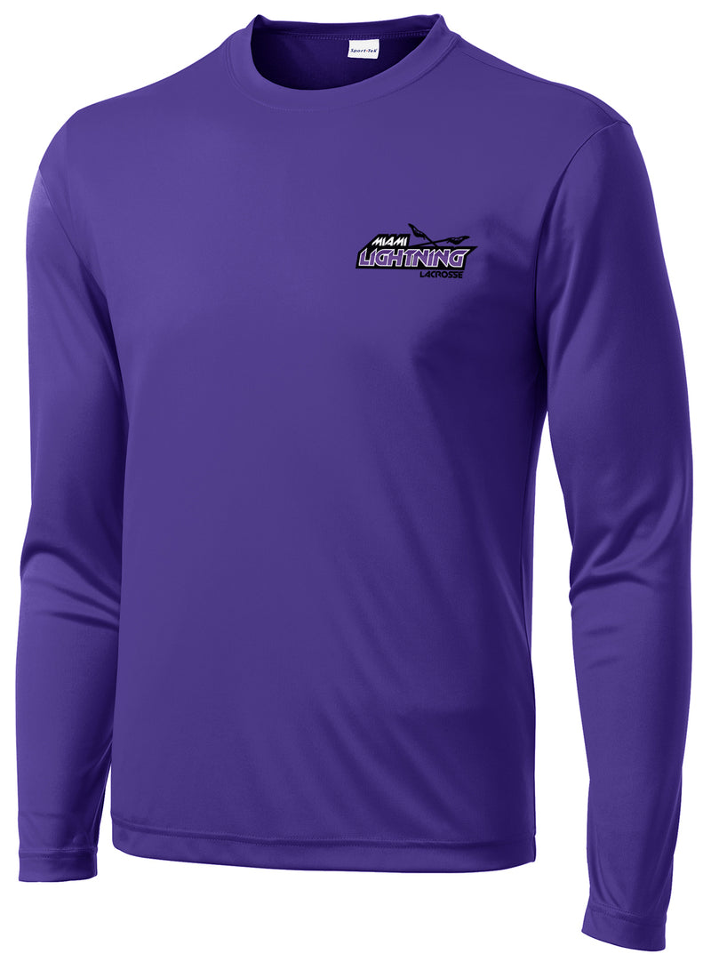 Miami Lightning Purple Long Sleeve Performance Shirt