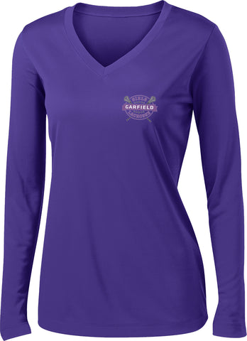 Garfield Women's Purple Long Sleeve Performance Shirt