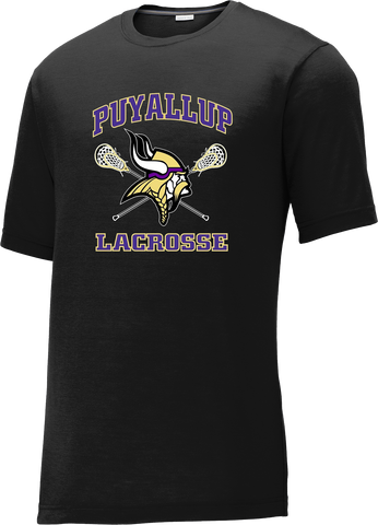 Puyallup Lacrosse Black CottonTouch Performance T-Shirt