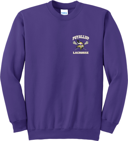Puyallup Lacrosse Purple Crew Neck Sweatshirt