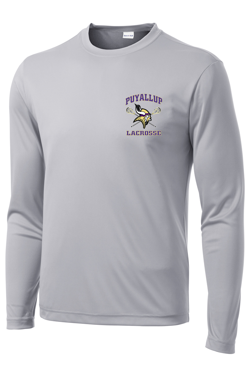 Puyallup Lacrosse Grey Long Sleeve Performance Shirt