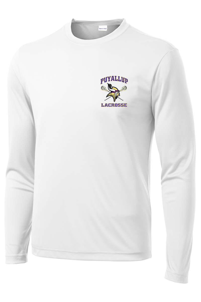 Puyallup Lacrosse White Long Sleeve Performance Shirt