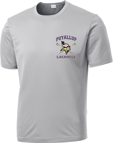 Puyallup Lacrosse Grey Performance T-Shirt