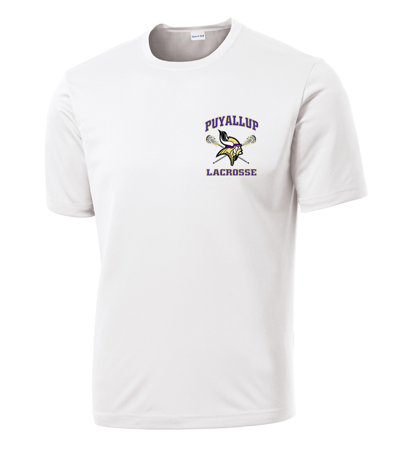 Puyallup Lacrosse White Performance T-Shirt