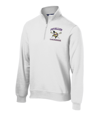 Puyallup Lacrosse White 1/4 Zip Fleece