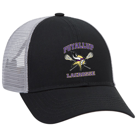 Puyallup Lacrosse Black/Grey Trucker Hat