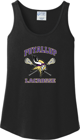 Puyallup Lacrosse Women's Black Tank Top