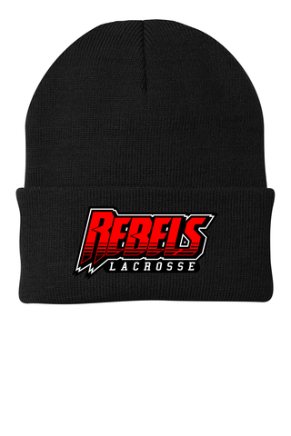 Rebels Lacrosse Knit Beanie
