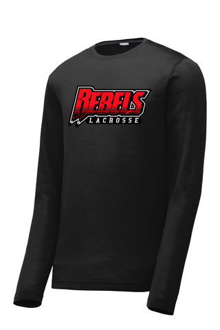 Rebels Lacrosse Long Sleeve CottonTouch Performance Shirt