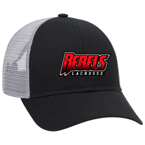 Rebels Lacrosse Trucker Hat - Black/Grey