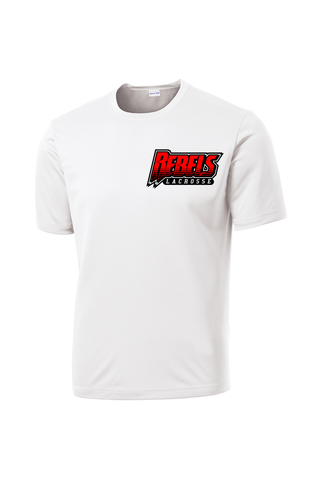 Rebels Lacrosse Performance T-Shirt (White)