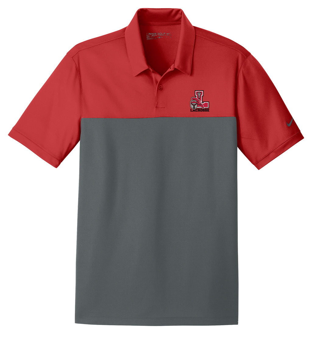 Lancaster Legends Lacrosse Red/Anthracite Nike Dri-FIT Colorblock Polo