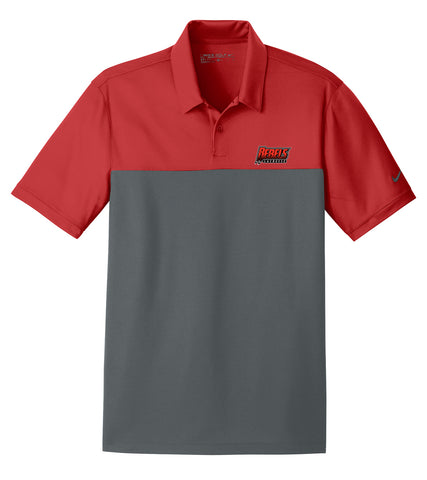 Rebels Lacrosse Red/Anthracite Nike Dri-FIT Colorblock Polo
