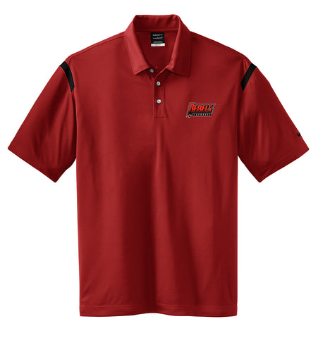 Rebels Lacrosse Red/Black Nike Dri-FIT Stripe Polo