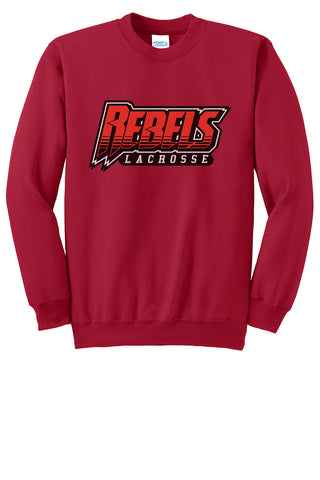 Rebels Lacrosse Crew Neck Sweater (Red)