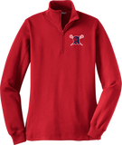 Augusta Patriots Women's Red 1/4 Zip Fleece