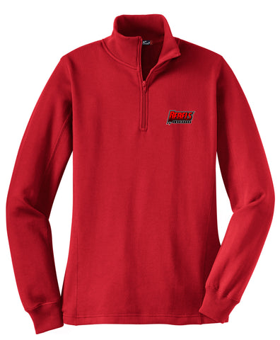 Rebels Lacrosse Women's Red 1/4 Zip Fleece