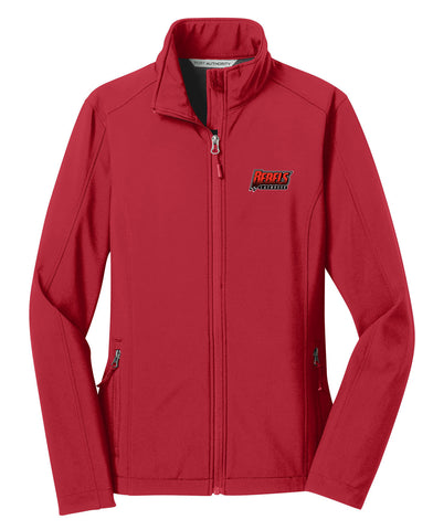 Rebels Lacrosse Women's Red Soft Shell Jacket