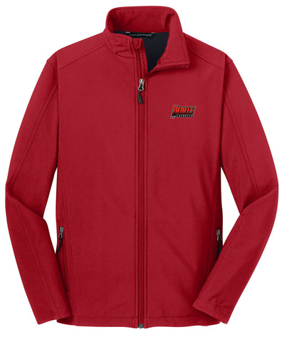 Rebels Lacrosse Red Soft Shell Jacket