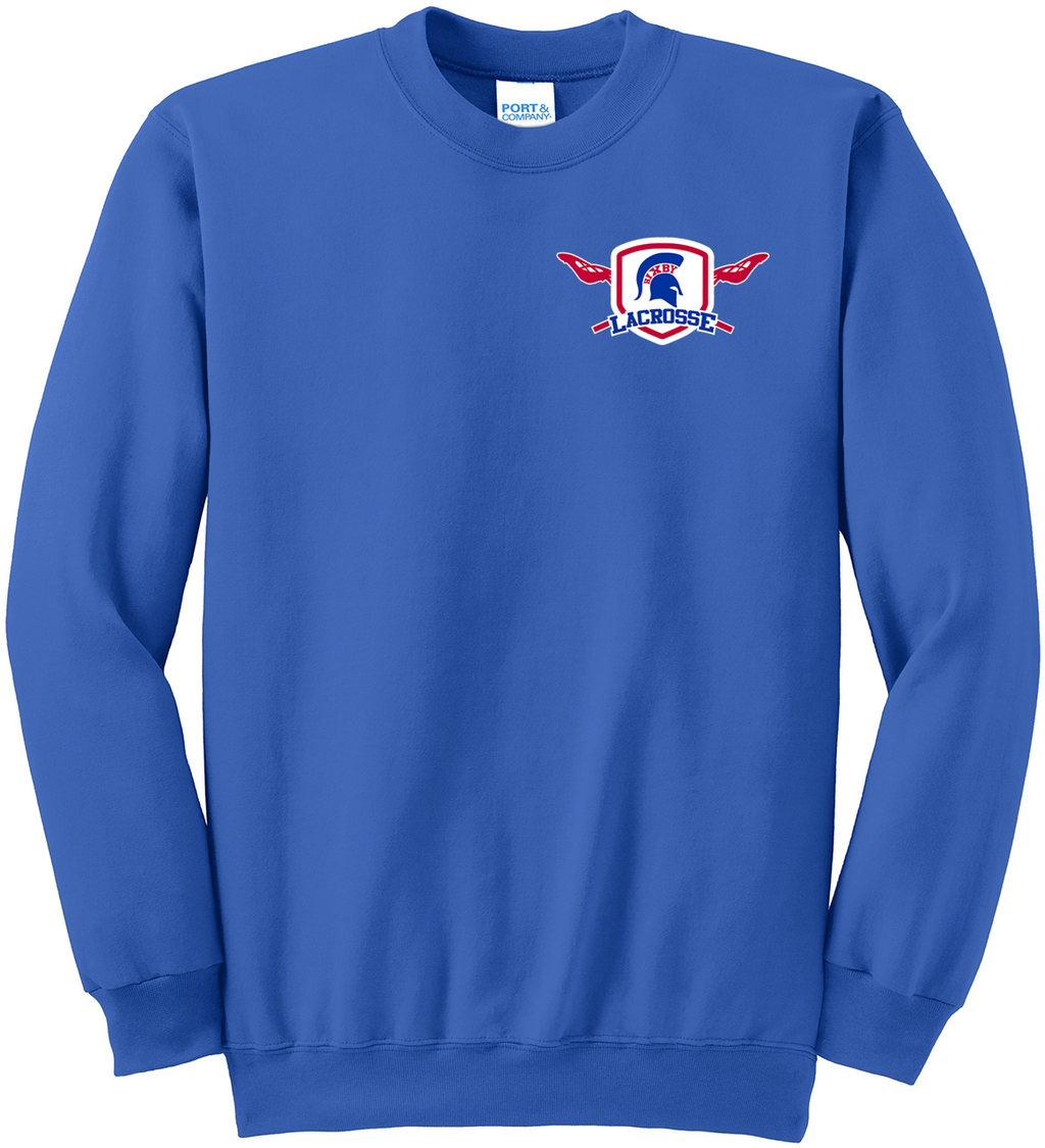 Bixby Lacrosse Royal Blue Crew Neck Sweater