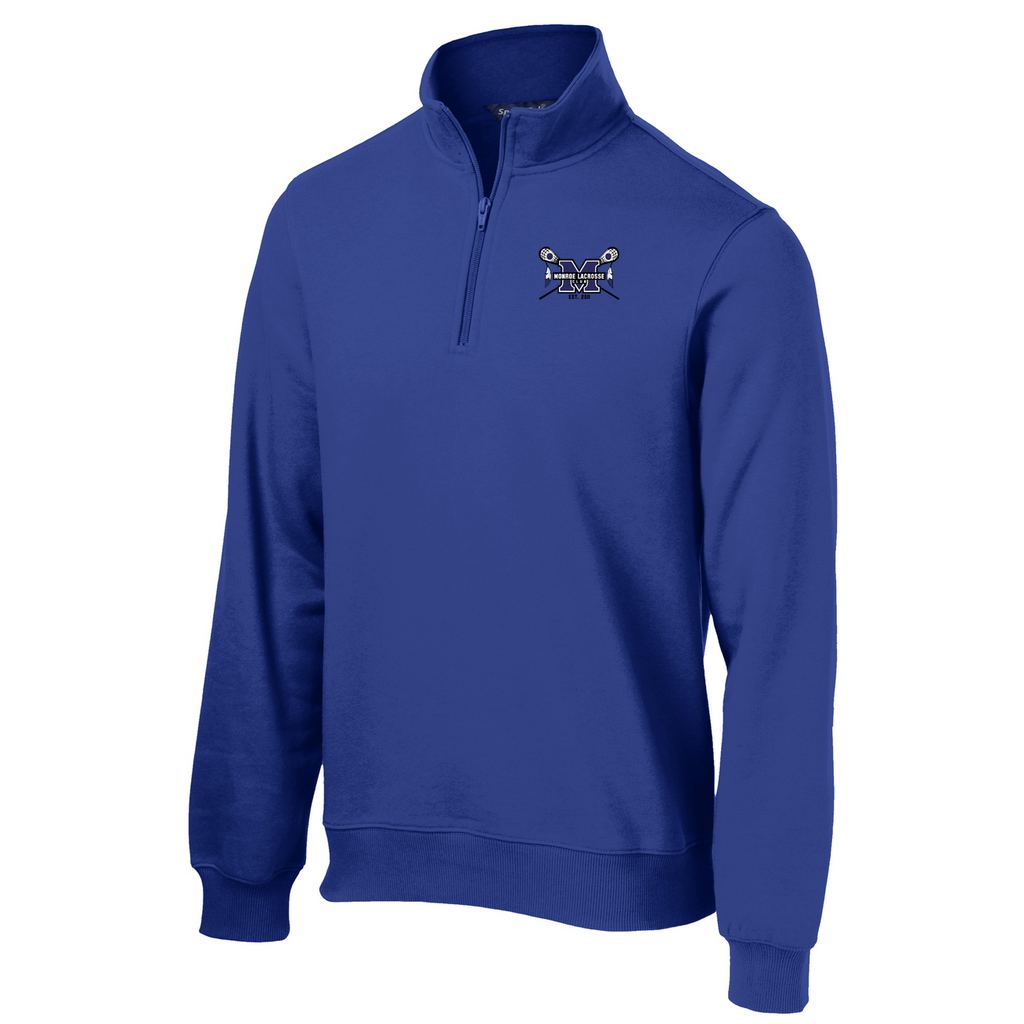 Monroe Braves 1/4 Zip Fleece
