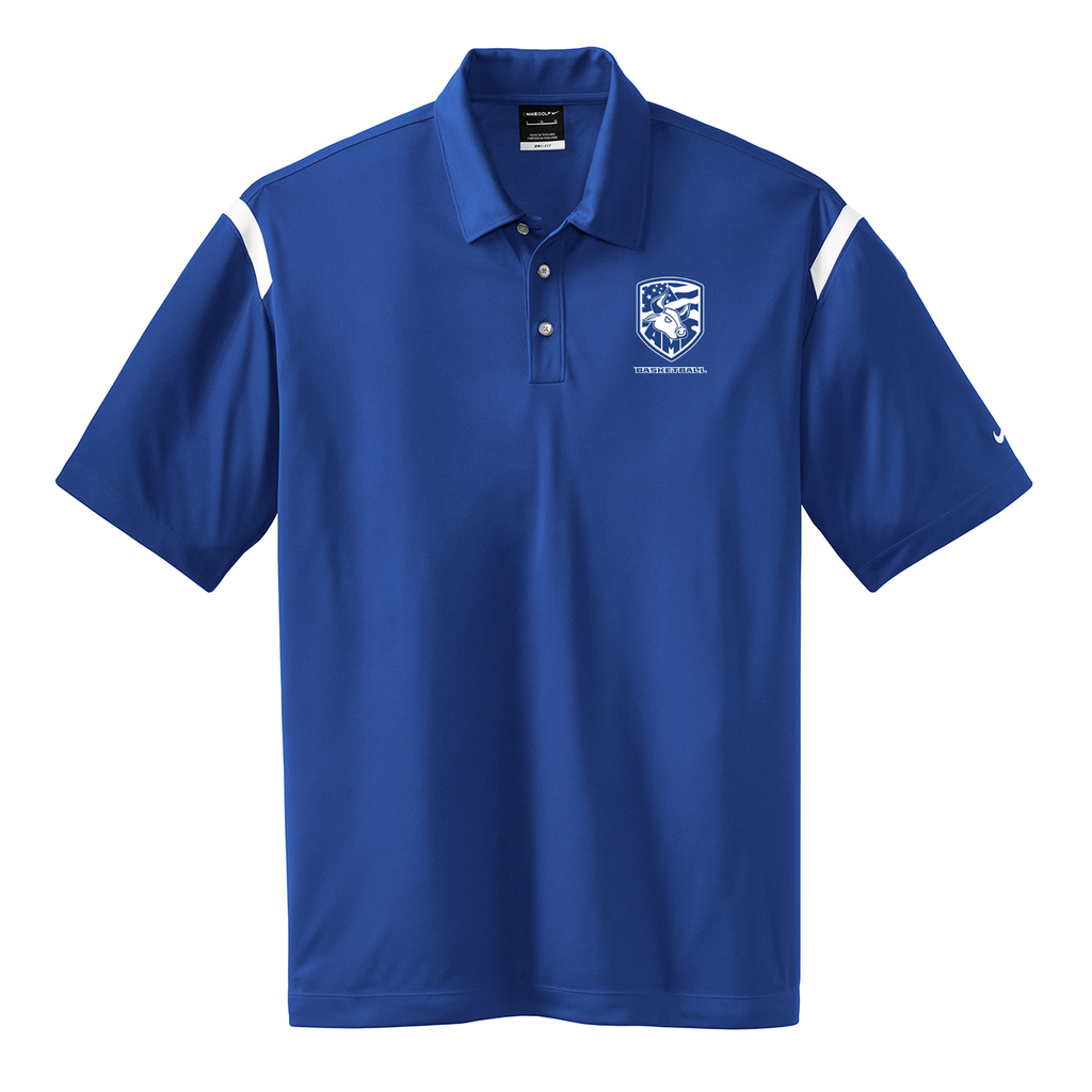 Accompsett Basketball Nike Dri-FIT Stripe Polo