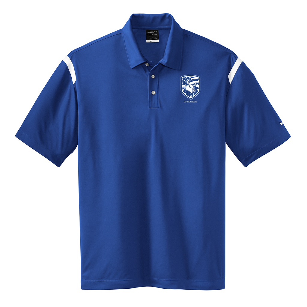 Accompsett Baseball  Nike Dri-FIT Stripe Polo