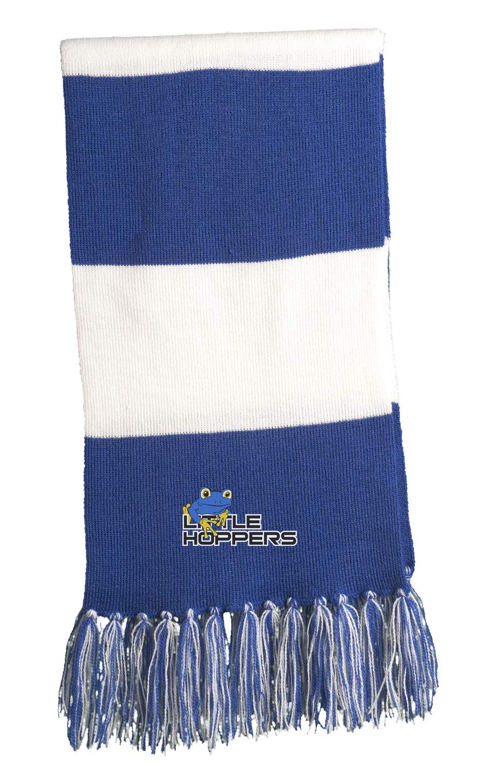 Little Hoppers Royal and White Scarf