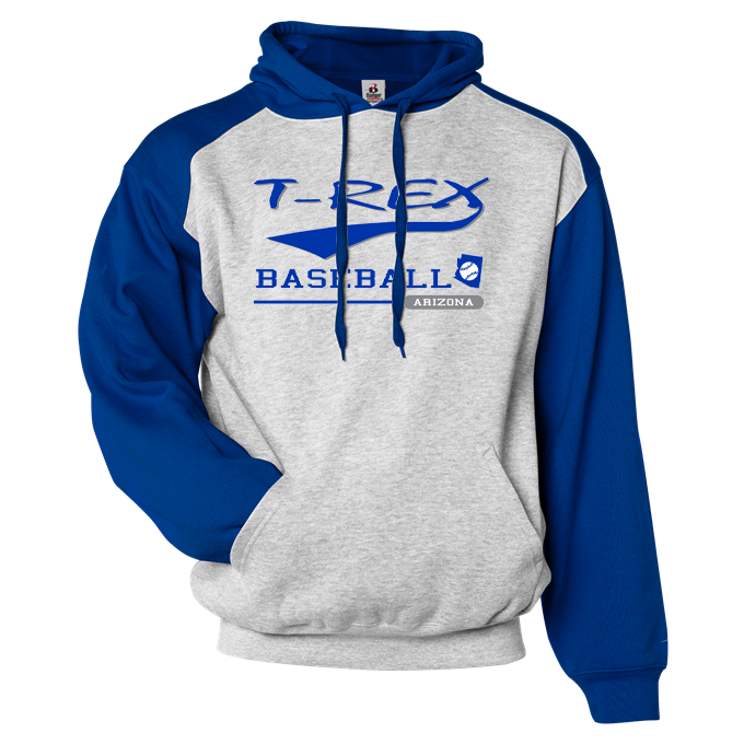 T-Rex Baseball Athletic Fleece Sport Hoodie