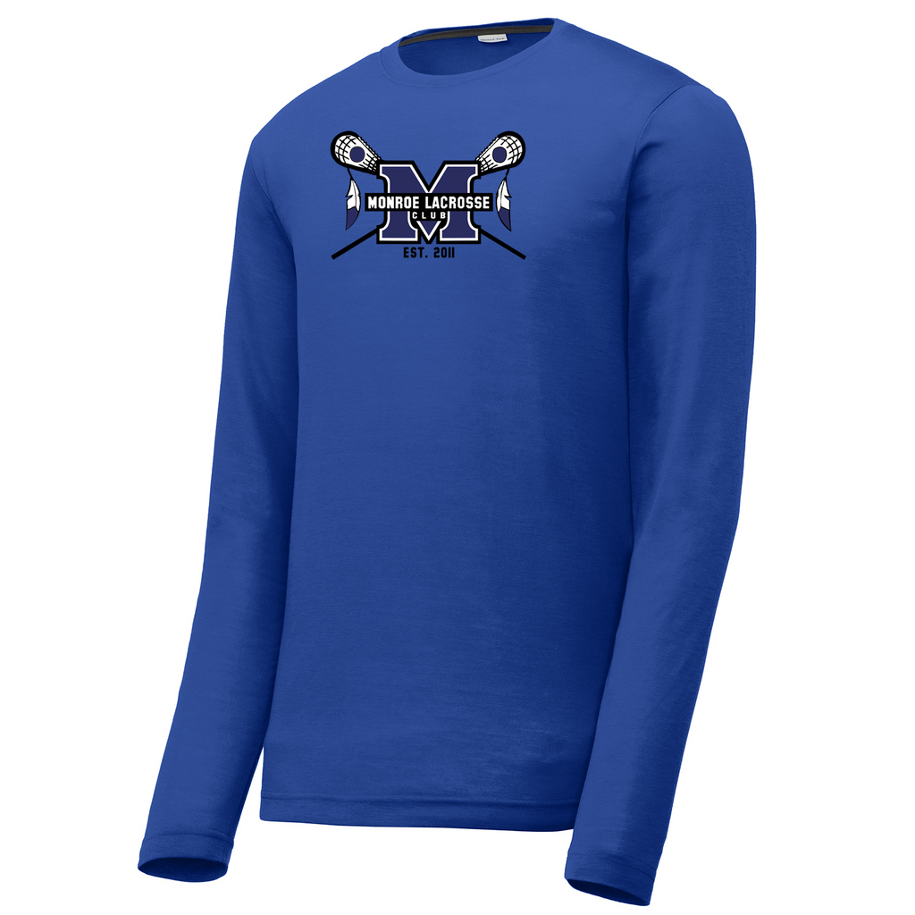 Monroe Braves Long Sleeve CottonTouch Performance Shirt