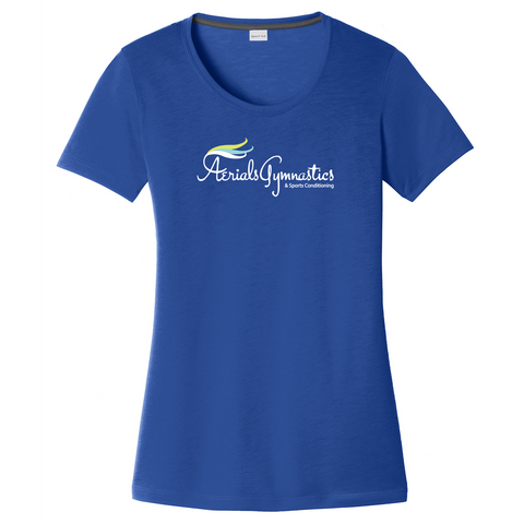 Accompsett Middle School Women's Royal CottonTouch Performance T-Shirt